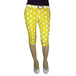 Anjan Fashion Capri For Girl's_ANJ404CP12_Yellow_38