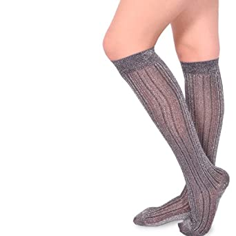 Velvet Heart Womens Fashion Thigh High - MicroFiber Ombree or Metalic