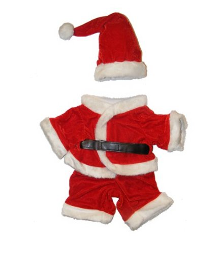 """Santa Claus"" Outfit Fits Most 14"" - 18"" Build-A-Bear, Vermont Teddy Bears, And Make Your Own Stuffed Animals"