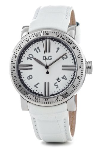 Dolce & Gabbana Men's DW0680 White Calf Skin Quartz Watch with White Dial