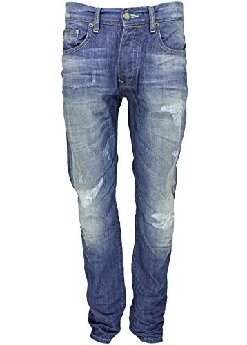 Petrol Industries -  Jeans  - tapered - Basic - Uomo Blue - Blau destroyed 31W/Regular