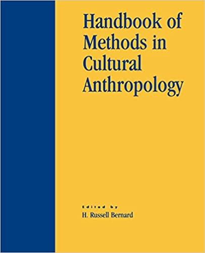 Cover:Handbook of methods in cultural anthropology
