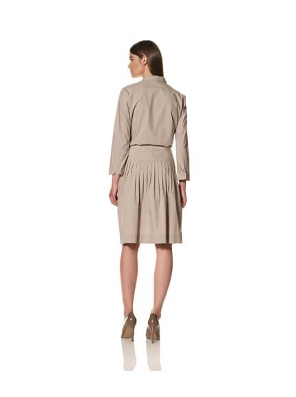 JIL SANDER Women's Poplin Pleated Skirt