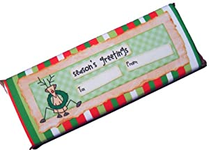 Olde Naples Chocolate Christmas Rudolph Season's Greetings Design, 2.5-Ounce Candy Bars (Pack of 6)