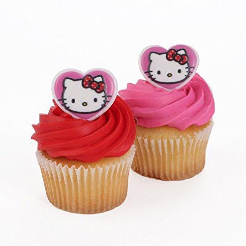 Hello Kitty Heart Cupcake Rings - 24 ct