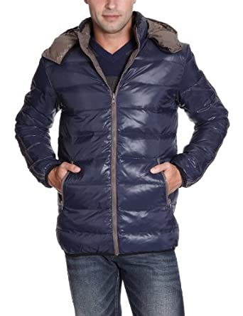LTB Jeans - Manteau - Homme - Bleu (Navy 301) - FR : 56 (Taille fabricant : XL)