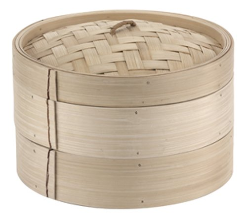 Paderno World Cuisine 9-7/8-Inch Bamboo Steamer Set front-251458