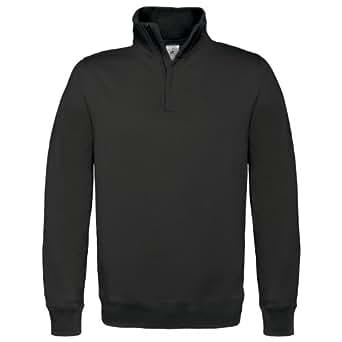 B&C ID.004 - Sweatshirt - Homme (S) (Noir)