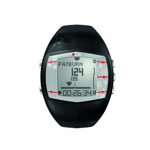 Polar FT40 Women's Heart Rate Monitor Watch (Black)