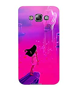 Mental Mind 3D Printed Plastic Back Cover For Samsung Galaxy E7- 3DSAME7-G1124