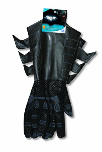 Batman The Dark Knight Rises Batman Gauntlets Costume, Black, One Size - 1