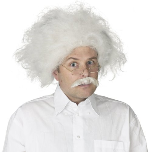 Fun World Mens Einstein Wig Adult One Size White