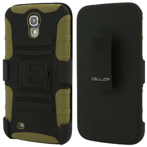 Celljoy Samsung Galaxy Mega 6.3 Case Protective [Future Armor] Ultra Fit Dual Protection Cover With Belt Clip Holster For Galaxy Mega 6.3 [Retail Packaged] (Army Green)