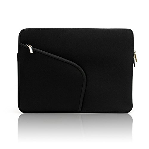 Lavievert Soft Neoprene(Water Resistance) Macbook Sleeve Laptop Case Notebook Bag Macbook Cover with Extra Pocket In Front(Easy to Collect Your Small Things) for 15 inch Macbook Retina Pro, 15 inch Macbook Pro and Most Popular 15-15.6 Inch MacBooks / Netbooks / Laptops / Notebooks - Black