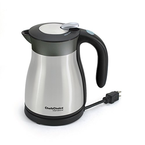 Chef's Choice 691 International Keep Hot Thermal Electric Kettle, 1.2 L, Stainless Steel (Double Walled Electric Kettle compare prices)