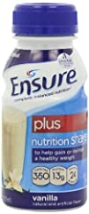 Ensure Plus Complete Balanced Nutrition Drink, Ready to Use, Vanilla Shake, 24 – 8 Fluid Ounce…