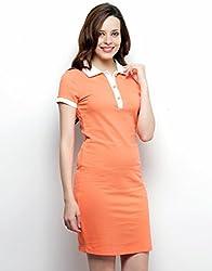 XnY Women's Dress (DR 1020218_Orange_14)