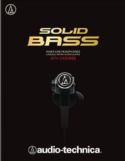 audio-technica SOLID BASS インナーイヤーヘッドホン ATH-CKS1000