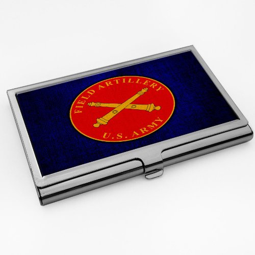 Business Card Holder with U.S. Army Field Artillery branch plaque