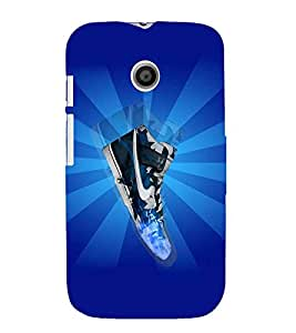 EPICCASE Shiny Sneakers Mobile Back Case Cover For Moto E (Designer Case)