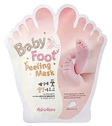 [SHARA SHARA] BABY FOOT PEELING MASK SHEET 40ml 1 PAIR, Remove Dead Skin Cuticle Heel, Exfoliating Foot Mask, Pair of 40ml