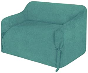 Fashion Street Micro Suede Sofa Cover, Blue