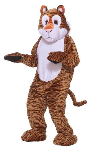 Forum Deluxe Plush Tiger Mascot Costume, Black/Yellow, One Size
