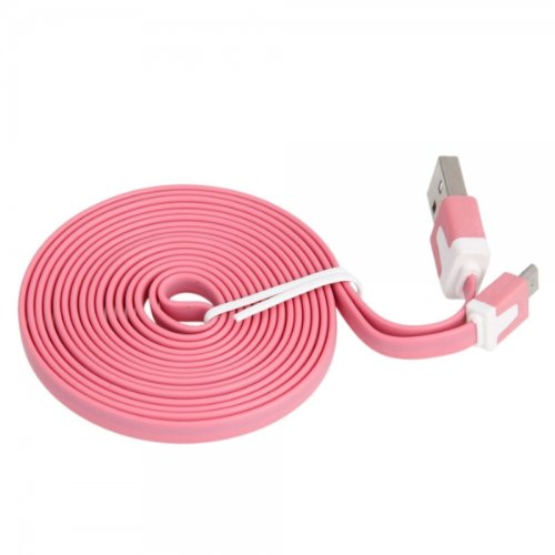 Pink 78.74 Inch / 200 Cm Flat Micro Usb Charging And Data Transmission Sync Cable For Maxwest Orbit 8Qc (By Things Needed)