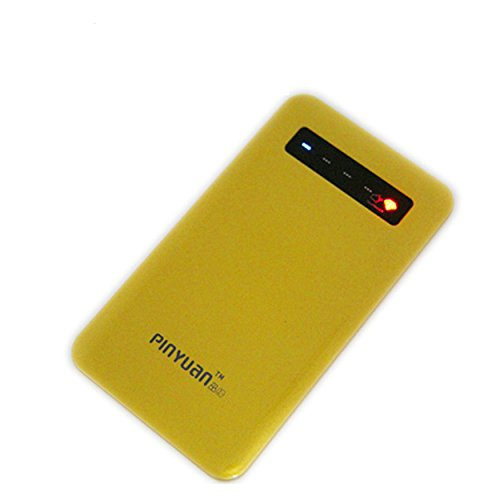 Pinyuan 4000Mah Portable Backup Battery Charger Usb Power Bank With Touch Screen Control For Smart Phones And Other Digital Devices - Retail Packaging - Gold