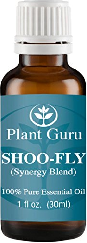 Shoo Fly Synergy Essential Oil Blend (Insect, Mosquito Repellent Blend) 30 ml. 100% Pure, Undiluted, Therapeutic Grade. (Blend Of: Citronella Oil, Lemongrass Oil, Rosemary Oil, Geranium Oil)