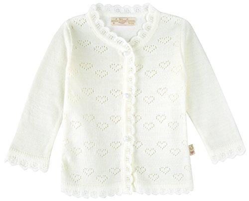 Lilax Baby Girls' Little Hearts Knit Cardigan Sweater 12M Cream