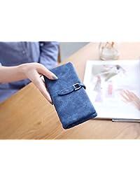 MOCA Vintage Suede Nubuck Leather Womens Women's Wallet Long Clutch Wallet Hand Purse For Womens Women's Girls...