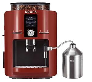 Krups EA 8255 Kaffee-Vollautomat Piano  rot-schwarz