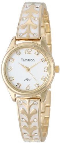 armitron-damen-75-5164wtgp-swarovski-crystal-accented-gold-tone-white-enamel-bangle-armbanduhr