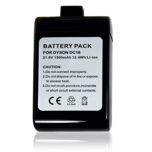 Powerextra™ 21.6V Li-Ion Battery For Dyson Dc16 Root 6 Vacuum Cleaner Dyson Handheld Vacuum Cleaner Dc16 Root 6 Dc16 Dc16 Animal Dc16 Pink 12097 912433-01 (Black)