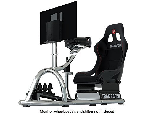 Trak Racer RS8-04-S Racing Driving Simulator Cockpit Video Gaming Chair with Gear Shifter Mount STEEL (Fanatec Csr Racing Wheel compare prices)