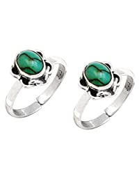 Yugshajewels YJT-04 Turquoise Turquoise 925 Sterling Silver Toe Ring