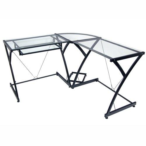 walker edison 3 piece contemporary desk multi rh pcpartpicker com L-shaped Desk Glass walker edison 3-piece contemporary desk