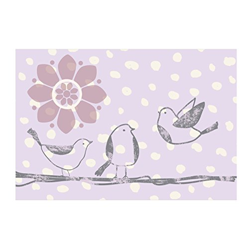 "lolli LIVING Living Textiles Canvas Art (15"" x 22.5"") Stroller Birds - 1"