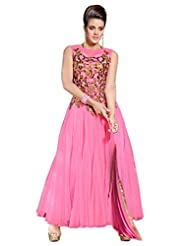 Fabboom Online Shopping For Peach Anarkali Suit