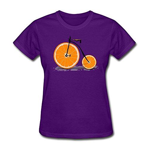 Custom Womens T Shirt Vitamin T Shirt Slim Fit Purple Small