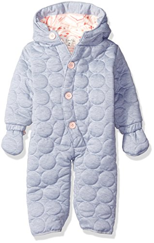 Jessica Simpson Girls' Circle Quilted Polyfilled Jersey Pram, Heather Grey, 12M (Jessica Simpson Quilted compare prices)