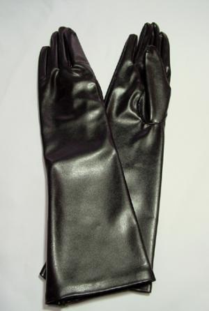 セミロング グローブ(黒:Mサイズ)