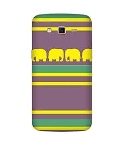 Stripes And Elephant Print (34) Samsung Galaxy Grand 2 Case