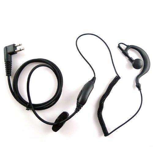 G Shape Earpiece Headset Ptt For 2 Pin Motorola Radio Sp10 Sp21 Sp50+ Sp50 Ct150 Ct250 Ct450 Ct450Ls Pro1150 Pro2150 Pro3150 Etc.