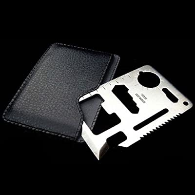 10 Pack Multi-Function Credit Card Survival Knife Camping Tool with Pouch from Crazyworldstore