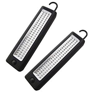 Pack of 2 Superbright 72 LED Magnetic Worklight Inspection Lamp Torches + LIFETIME WARRANTY by Tooltime®