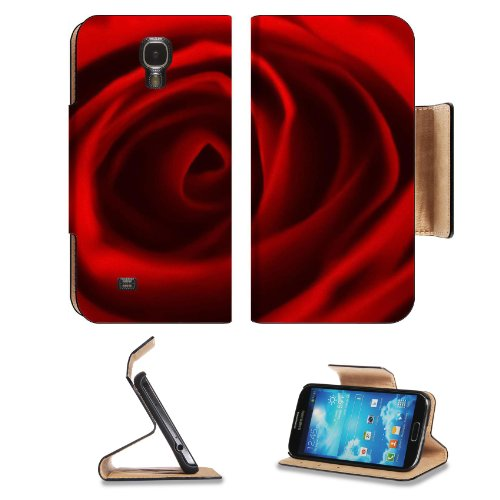 Red Rose Center Flower Beauty Fragrant Nature Present Love Samsung Galaxy S4 Flip Cover Case With Card Holder Customized Made To Order Support Ready Premium Deluxe Pu Leather 5 Inch (140Mm) X 3 1/4 Inch (80Mm) X 9/16 Inch (14Mm) Liil S Iv S 4 Professional