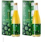 沖縄名産 山原(ヤンバル) シークワーサー 果汁100% 720ml ×2本セット