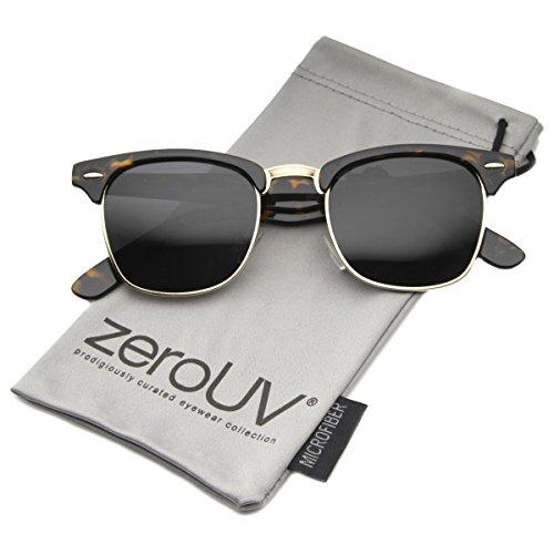 zeroUV - Polarized Classic Half Frame Semi-Rimless Horn Rimmed
